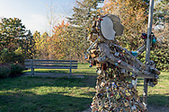 """Love in the Rain is a sculpture created by Bruce Voyce and is currently located at Queen Elizabeth Park in Vancouver, British Columbia, Canada. The sculpture is for the attachment of """"love locks"""" which couples can attach and then dispose of the keys in a nearby receptacle.  Previously the locks were becoming a problem on fences and other structures in the city."""
