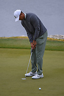 Tiger Woods (USA) watches his par putt on 11 during day 4 of the WGC Dell Match Play, at the Austin Country Club, Austin, Texas, USA. 3/30/2019.<br /> Picture: Golffile | Ken Murray<br /> <br /> <br /> All photo usage must carry mandatory copyright credit (© Golffile | Ken Murray)