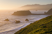 Sunst view of Goat Rock, Sonoma Coast State Park, California