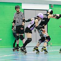 Halifax Bruising Banditas vs Hallam Hellcats at Calderdale College, Halifax