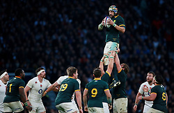 South Africa's Victor Matfield  during the QBE International at Twickenham, London.