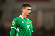 Northern Ireland forward Kyle Lafferty during the UEFA European 2020 Qualifier match between Northern Ireland and Estonia at National Football Stadium, Windsor Park, Northern Ireland on 21 March 2019.