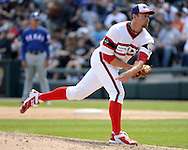 CHICAGO - APRIL 24:  Zach Duke #33 of the Chicago White Sox pitches against the Texas Rangers on April 24, 2016 at U.S. Cellular Field in Chicago, Illinois.  The White Sox defeated the Rangers 4-1.  (Photo by Ron Vesely)   Subject: Zach Duke