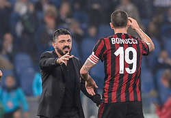 May 9, 2018 - Rome, Italy - Gennaro Gattuso during the Tim Cup Final football match F.C. Juventus vs A.C. Milan at the Olympic Stadium in Rome, on May 09, 2018  (Credit Image: © Silvia Lore/NurPhoto via ZUMA Press)