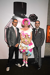 Left to right, designer ROLF SNOEREN, artist GRAYSON PERRY and VIKTOR HORSTING (Designers VIKTOR & ROLF) at the opening of 'The House of Viktor & Rolf' an exhibtion of designs by Viktor & Rolf held at The Barbican Art Gallery, Silk Sytreet, London on 17th June 2008.<br /><br />NON EXCLUSIVE - WORLD RIGHTS