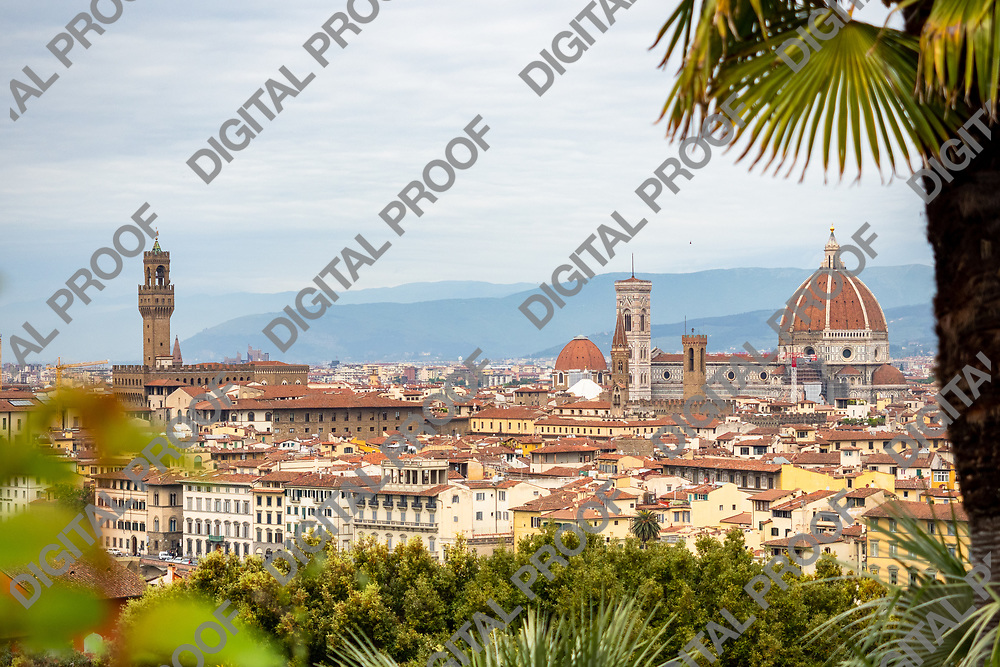 Landscape view of city of florence in tuscany region, Italy by day.