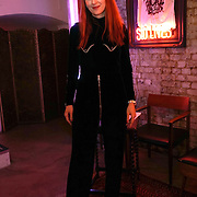 London,England,UK : 13th April 2016 : A Model wearing Designer Alexandra Long Press Day Introducing 'Enigma II' Alexandra Long pays homage to the women who made Great Britain, truly great! at Lights of Soho, London. Photo by See Li