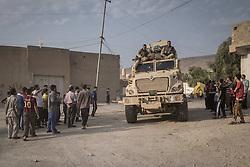 October 27, 2016 - Fadiliyah, Ninewah, Iraq - 2016.10.27. Kurdish Peshmerga forces has liberated Fadiliyah from the daesh. (Credit Image: © Bertalan Feher via ZUMA Wire)