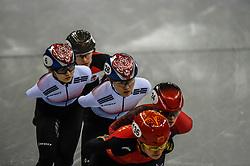 February 17, 2018 - Pyeongchang, Gangwon, South Korea - Choi Minjeong of South Korea and Kim Alang of South Korea competing in 1500 meter speed skating for women at Gangneung Ice Arena, Gangneung, South Korea on 17 February 2018. (Credit Image: © Ulrik Pedersen/NurPhoto via ZUMA Press)