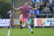 GOAL Ethan Hamilton begins his celebrations after scoring 0-1  during the EFL Sky Bet League 1 match between Bristol Rovers and Rochdale at the Memorial Stadium, Bristol, England on 22 April 2019.
