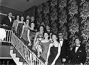 22/11/1958<br /> 11/22/1958<br /> 22 November 1958<br /> Irish Shell staff dance at the Shelbourne Hotel, Dublin. some of the attendees pose on the stairs.