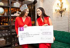 Variety Cheque Presentation with Miss Ireland