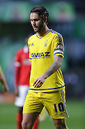 Henri Lansbury of Nottingham Forest looks on. Skybet football league championship match, Charlton Athletic v Nottingham Forest at The Valley  in London on Saturday 2nd January 2016.<br /> pic by John Patrick Fletcher, Andrew Orchard sports photography.