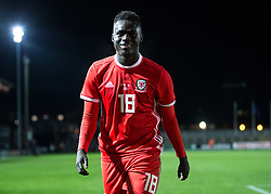 NEWPORT, WALES - Tuesday, October 16, 2018: Wales' Momodou Touray after the UEFA Under-21 Championship Italy 2019 Qualifying Group B match between Wales and Switzerland at Rodney Parade. (Pic by Laura Malkin/Propaganda)