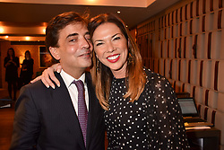Heather Kerzner and James Henderson at a party to celebrate the publication of Place by Tara Bernerd held at il Pampero at The Hari, 20 Chesham Place, London, England. 8 March 2017.