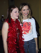 Melissa Joan Hart and Calista Flockhart.VDay 2001 Vagina Monologues Post Party.Benefiting Women Against Violence.Hammernstein Ballroom, New York.February 10, 2001.Photo by CelebrityVibe.com ..