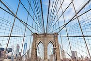 The Brooklyn Bridge in New York City.