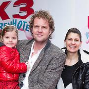 NLD/Amsterdam/20140202 - Premiere K3 Dierenhotel, Remco veldhuis en partner Ruudje Douwma met dochter Juno