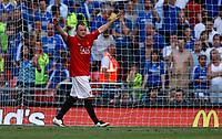 Photo: Richard Lane/Sportsbeat Images.<br />Manchester United v Chelsea. FA Community Shield. 05/08/2007. <br />Manchester United's Wayne Rooney celebrates scoring the winning penalty.