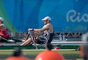 "Rio de Janeiro. BRAZIL.   GBR M1X, Alan CAMPBEJJ, Quartrefinal Men's Single Sculls.2016 Olympic Rowing Regatta. Lagoa Stadium,<br /> Copacabana,  ""Olympic Summer Games""<br /> Rodrigo de Freitas Lagoon, Lagoa.   Tuesday  09/08/2016 <br /> <br /> [Mandatory Credit; Peter SPURRIER/Intersport Images]"