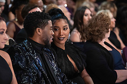 Chadwick Boseman (L) and guest during the live ABC Telecast of The 91st Oscars® at the Dolby® Theatre in Hollywood, CA on Sunday, February 24, 2019.
