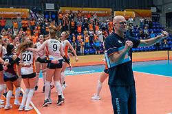 Netherlands, Coach Marko Klok of Netherlands celebrate after the 3-1 win against USA during United States - Netherlands, FIVB U20 Women's World Championship on July 15, 2021 in Rotterdam