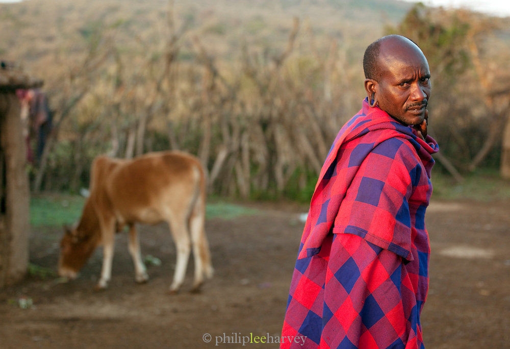 Maasai tribesman, Oyaratta village near Maasai Mara Natioanal Reserve, Kenya