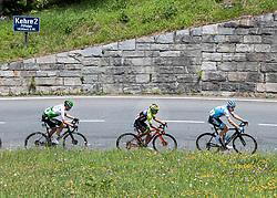 10.07.2019, Fuscher Törl, AUT, Ö-Tour, Österreich Radrundfahrt, 4. Etappe, von Radstadt nach Fuscher Törl (103,5 km), im Bild v.l. Ben O'Connor (AUS, Team Dimension Data), Dayer Quintana (COL, Neri Sottoli - Selle Italia - KTM), Ben Hermans (BEL, Israel Cycling Academy) // f.l. Ben O'Connor of Australia (Team Dimension Data) Dayer Quintana of Colombia (Neri Sottoli - Selle Italia - KTM) Ben Hermans of Belgium Team Israel Cycling Academy during 4th stage from Radstadt to Fuscher Törl (103,5 km) of the 2019 Tour of Austria. Fuscher Törl, Austria on 2019/07/10. EXPA Pictures © 2019, PhotoCredit: EXPA/ Reinhard Eisenbauer