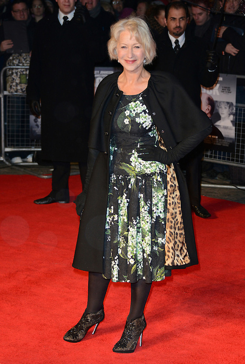 Helen Mirren attends the Hitchcock premiere at the BFI southbank, London, UK. 09/12/2012 Anne-Marie Michel/CatchlightMedia