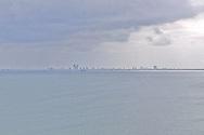 View of Danang city at far distance, Vietnam, Southeast Asia