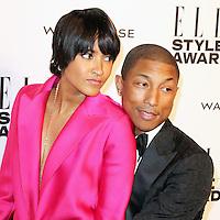 Helen Lasichanh; Pharrell Williams, ELLE Style Awards, One Embankment, London UK, 18 February 2014, Photo by Richard Goldschmidt