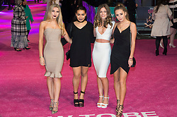 © Licensed to London News Pictures. 09/02/2016. London, UK. Pop group SWEET RIOT attend the UK film premiere of 'How To Be Single'.  The film is about a woman writing a book about bacherlorettes who becomes embroiled in an international affair while researching abroad<br /> Photo credit: Ray Tang/LNP