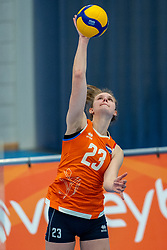 Eline Timmerman of Netherlands in action during the Women's friendly match between Netherlands and Belgium at Sporthal De Basis on may 19, 2021 in Sliedrecht, Netherlands (Photo by RHF Agency/Ronald Hoogendoorn)