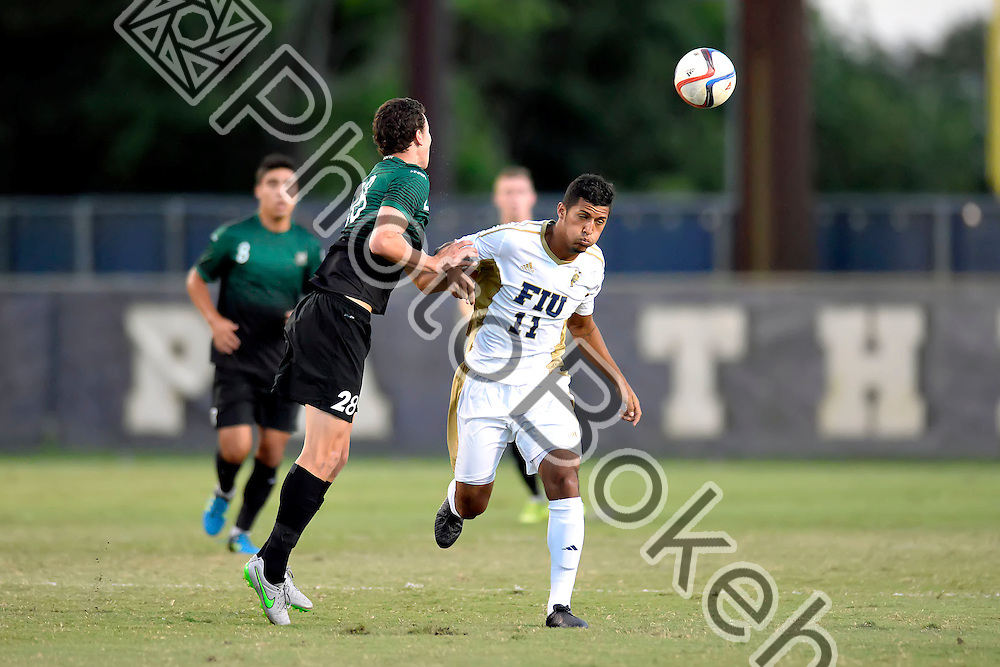 2015 October 03 - FIU's Luis Betancur (11). <br /> Florida International University fell to Charlotte, 0-1, at the FIU Soccer Complex, Miami, Florida. (Photo by: Alex J. Hernandez / photobokeh.com) This image is copyright by PhotoBokeh.com and may not be reproduced or retransmitted without express written consent of PhotoBokeh.com. ©2015 PhotoBokeh.com - All Rights Reserved