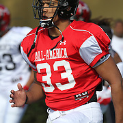 Trey DePriest during the practice session at the Walt Disney Wide World of Sports Complex in preparation for the Under Armour All-America high school football game on December 3, 2011 in Lake Buena Vista, Florida. (AP Photo/Alex Menendez)