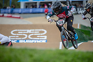 #128 (FEATHERSTONE Ellie) GBR at Round 2 of the 2020 UCI BMX Supercross World Cup in Shepparton, Australia.