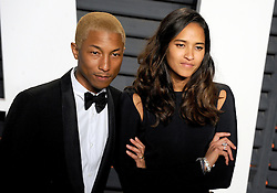 Pharrell Williams, Helen Lasichanh arrives at the 2016 Vanity Fair Oscar Party Hosted By Graydon Carter at Wallis Annenberg Center for the Performing Arts on February 28, 2016 in Beverly Hills, California. EXPA Pictures © 2016, PhotoCredit: EXPA/ Photoshot/ Dennis Van Tine<br /><br />*****ATTENTION - for AUT, SLO, CRO, SRB, BIH, MAZ only*****