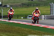 April 19-21, 2013- Marc Marquez (SPA), Repsol Honda Team leads teammate Dani Pedrosa (SPA), Repsol Honda Team
