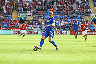 Cardiff City forward James Collins (19) in action during the EFL Sky Bet Championship match between Cardiff City and Bristol City at the Cardiff City Stadium, Cardiff, Wales on 28 August 2021.