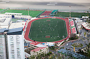 Gibraltar, British terroritory in southern Spain Victoria stadium since 2014 a venue for international soccer matches as Gibraltar has been accepted by FIFA for inclusion in the 2016 European championship tournament