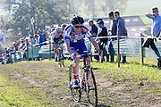 Belgium, November 1 2015:  Sanne Cant during the elite women's race at the Koppenbergcross 2015 cyclocross event.<br /> Copyright 2015 Peter Horrell.
