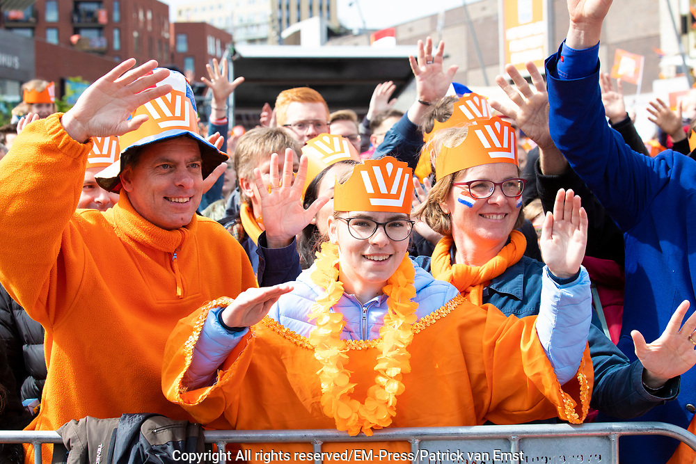 Koningsdag 2019 in Amersfoort / Kingsday 2019 in Amersfoort.<br /> <br /> Op de foto: Publiek