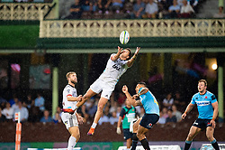 March 23, 2019 - Sydney, NSW, U.S. - SYDNEY, NSW - MARCH 23: Crusaders player David Havili (15) goes up for the ball at round 6 of Super Rugby between NSW Waratahs and Crusaders on March 23, 2019 at The Sydney Cricket Ground, NSW. (Photo by Speed Media/Icon Sportswire) (Credit Image: © Speed Media/Icon SMI via ZUMA Press)