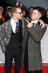 Jamie Borthwick and Harry Reid attending the National Television Awards 2018 held at the O2, London. Photo credit should read: Doug Peters/EMPICS Entertainment