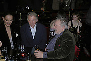 Catherine Bailey, Don McCullin and David Bailey, Bazaar and Moet  Black, White and Gold party. Ronnie Scott's. Frith St. London. 16 november 2006. ONE TIME USE ONLY - DO NOT ARCHIVE  © Copyright Photograph by Dafydd Jones 66 Stockwell Park Rd. London SW9 0DA Tel 020 7733 0108 www.dafjones.com