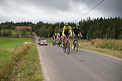 Alexandra Nessmar (SWE) of Team Sweden leads the break on the second gravel section of the Crescent Vargarda - a 152 km road race, starting and finishing in Vargarda on August 13, 2017, in Vastra Gotaland, Sweden. (Photo by Balint Hamvas/Velofocus.com)