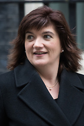 Downing Street, London, January 26th 2016. Education Secretary Nicky Morgan leaves 10 Downing Street following the weekly Cabinet meeting. ///FOR LICENCING CONTACT: paul@pauldaveycreative.co.uk TEL:+44 (0) 7966 016 296 or +44 (0) 20 8969 6875. ©2015 Paul R Davey. All rights reserved.