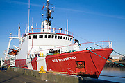 Vos Westwind North Sea supply vessel, River Yare, Great Yarmouth