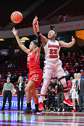 NORMAL, IL - December 04: Viria Livingston and Brianah Ferby during a college women's basketball game between the ISU Redbirds  and the Austin Peay Governors on December 04 2018 at Redbird Arena in Normal, IL. (Photo by Alan Look)