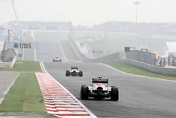 29.10.2011, Jaypee-Circuit, Noida, IND, F1, Grosser Preis von Indien, Noida, im BildJerome De Ambrosio (BEL) Marussia Virgin Racing Team - Timo Glock (GER), Marussia Virgin Racing // during the Formula One Championships 2011 Large price of India held at the Jaypee-Circui 2011-10-29  EXPA Pictures © 2011, PhotoCredit: EXPA/ nph/  Dieter Mathis       ****** out of GER / CRO  / BEL ******